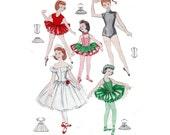 "50s Children's Sewing Pattern Dance Costumes Girl's Tutu Ballet Leotards Ballerina Size 12 Chest 30"" (76 cm) Butterick 8380 S"