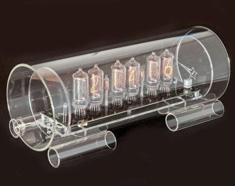 IN-8-2 Glass Nixie Tube Clock - Medium sized display tube