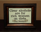 """Ron Swanson Quote  mancave decor framed embroidery 5x7""""- adjustable in color"""