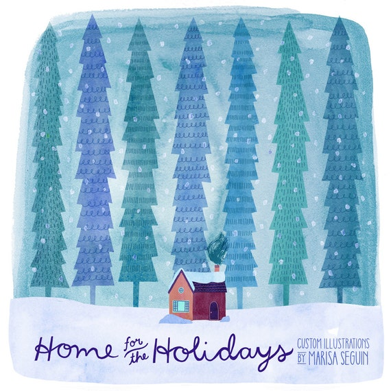 Home for the Holidays Custom Illustration