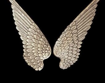 Ox Brass Large Bird Wings Stamping 90 mm x 34 mm Qty 1 Pair One Made in the USA Archangel or Demon Wings