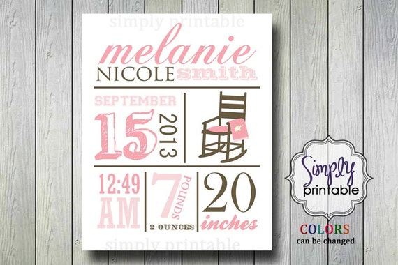 Printable Girls Nursery Wall Art
