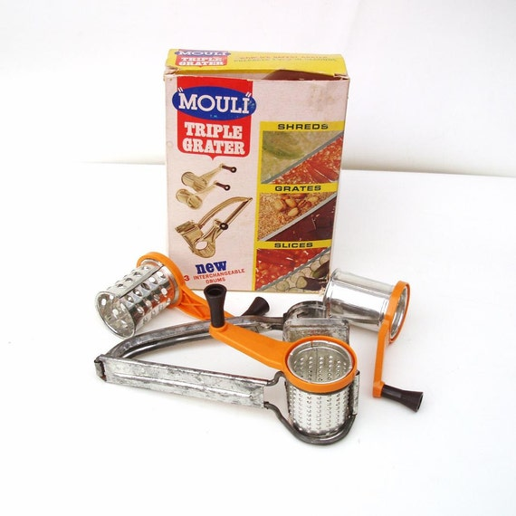 Vintage Mouli Grater Made In USA Rotary Grater Hand By
