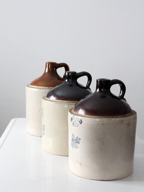 Antique Stoneware Jug Western Stoneware 2 Gallon Jug