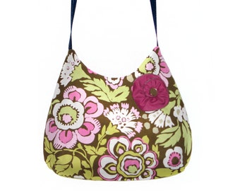 Green and pink cross body bag