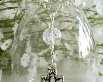 Dove and Cross Anglican Rosary Bracelet