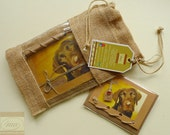 Labrador Puppy * Journal with Mini Pencil * Recycled Kraft Paper Notebook * Handmade in Ireland