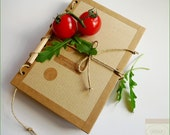 My Secret Recipes Organizer with (or without) Free eyePad and Mini Pencil - Recycled Kraft Paper Notebook - Handmade in Ireland