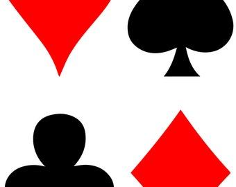 Card Suits SVG Files (Heart, Diamond, Spade, Club)