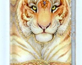 Mehndi or Blue Tigress Pendant