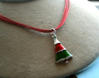 Christmas Choker Necklace Your Choice of Pendant