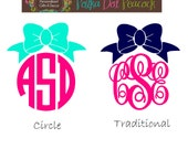 Bow Monogram Decal - FREE SHIPPING