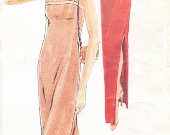 1970s Jerry Silverman Womens Disco Jacket & Slip Dress Vogue American Designer Pattern 2328 Size 14 Bust 36 UnCut