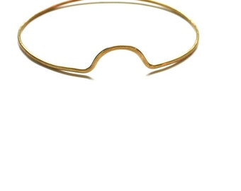 Peaks + Valleys Bangle - Hammered Brass Inspired by Geography