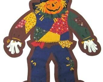 30% OFF Halloween Scarecrow Glow In The Dark Fabric Panel  Jack o Lantern Scarecrow