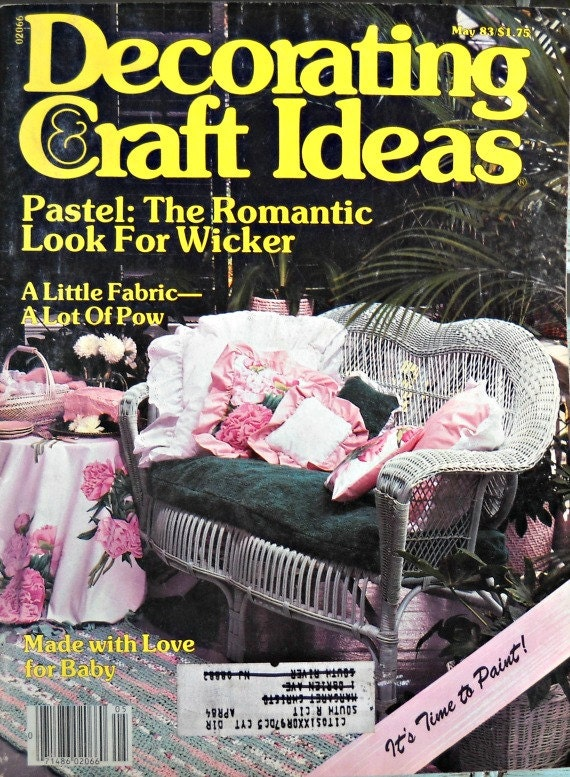 decorating and craft ideas magazine vintage by curlicuecreations