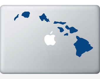 Hawaiian Islands state laptop DECAL- macbook iPad computer- Gadget Art / Accessory - aloha tropical Chic perfect gift