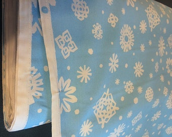 Frozen Inspired Elsa Snowflake Print Cotton Fabric By Yard  NEW Alexander Henry collection friendly flakes