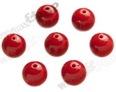 20mm - 100 PACK Cherry Red Gumball Beads, Bulk Gumball Beads, Wholesale Gumball Beads, Wholesale Chunky Beads, 20mm Beads, 2.5mm Hole