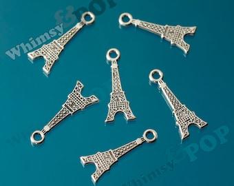 Paris France Eiffel Tower Tibetan Silver Charm, Eiffel Tower Charm (R7-107)
