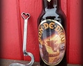 FORGED HEART Bottle Opener for Him or Her ,  Personalized Option Available - Hand Forged and Signed by Blacksmith Naz , Gifts Gift Love Beer