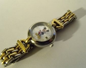 Ladies Watch Mickey Mouse Disney Two Tone