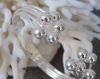Bubbles of Sterling Silver to Wrap Around the Wrist Cuff