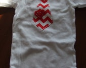 Valentine's Day Boy Shirt, Tie shirt, chevron heart clothing, bodysuit, creeper,baby boy valentine day outfit