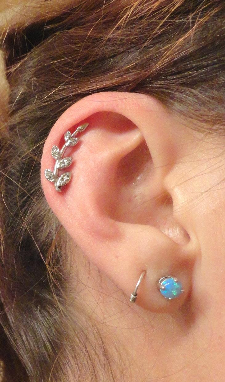 Cartliage Earring Tragus Earring Helix Piercing Crystal Vine Ear Piercing Jewelry