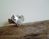 Strength Ring - OOAK Fine Silver - Size 6, 7, 8