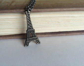 Eiffel Tower Necklace Paris Necklace France Necklace - made with an Eiffel Tower Button