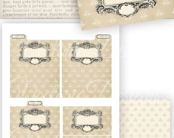 Mini File Folders - printable / add your own text - VD0771