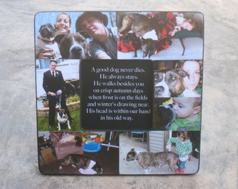 pet memorial frame personalized pet memorial picture frame custom dog frame cat frame pet collage picture frame 8 x 8 unique gift