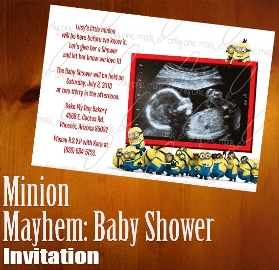 Minions Baby Shower Invitations for amazing invitations example