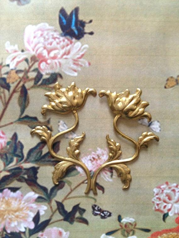 William Morris Style Poppy (2 pc)