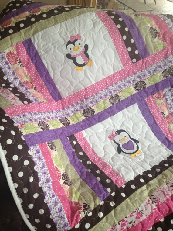 Items Similar To Pink Purple Green And Brown Penguin