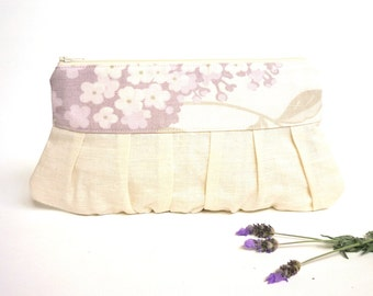 Lilac wedding clutch, formal clutch, prom purse, lavender purse, cream clutch, bridesmaid gift, purple clutch, bridal purse, spring wedding