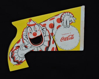 Vintage 1954 Coca Cola Circus Clown Paper Pop Gun