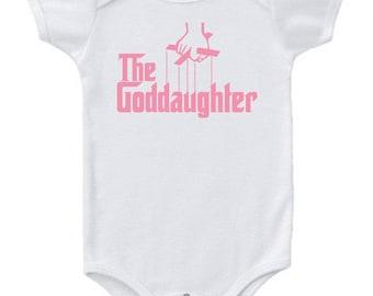The Goddaughter Baby girl Bodysuit Creeper Baby One piece Baby bodysuit Cute Baby snapsuit Bodysuit Antique Fun Custom Color