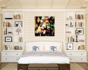 nautical decor  // nautical art // beach art canvas - Buoys, original art photograph on canvas