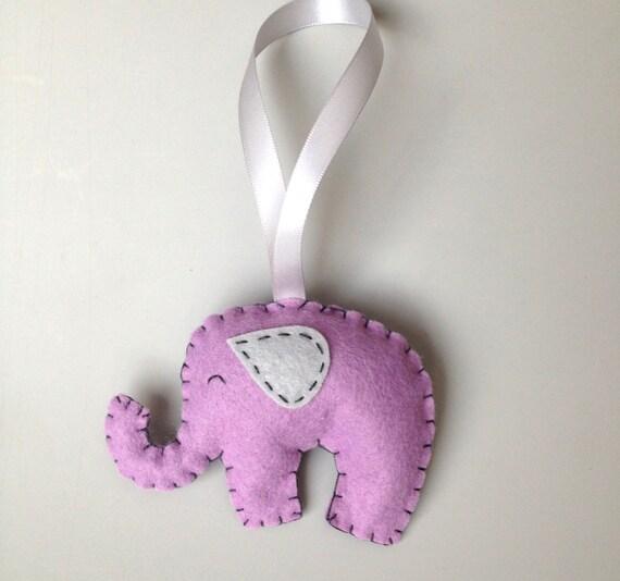 purple elephant ornament purple elephant nursery decor baby shower
