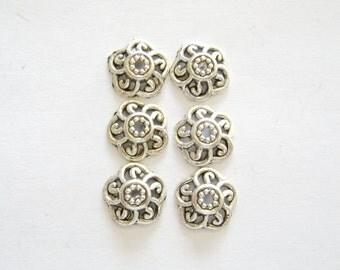 Pewter bead caps 10mm