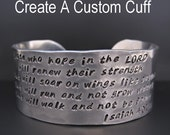 Silver Personalized Custom Engraved Bracelet / 1 inch cuff / EXTRA TEXT / Hand Stamped / Quote Bracelet / Gifts for Her / Anniversary Gifts