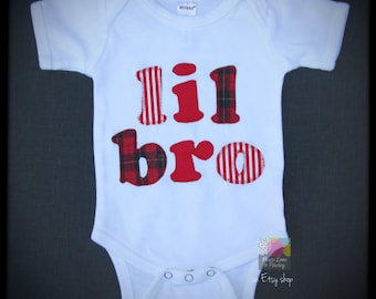 Lil Bro Bodysuit, Little Brother Outfit, Lil Bro Outfit, Baby Shower Gift, New Baby Gift