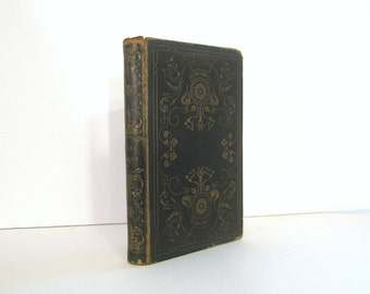 Lalla Rookh by Thomas Moore Ornate 1848 American Edition of a great Romantic Poem Antique Book Bound in Gilt Decorated Leather