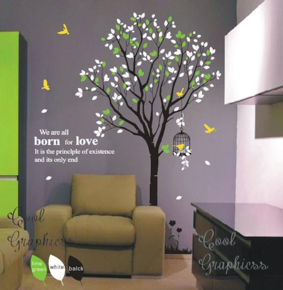 Baum abziehbild kinderzimmer wand aufkleber vinyl aufkleber - Baum kinderzimmer ...