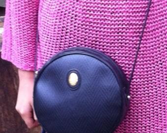 Mark Cross handbag vintage messenger cross body bag NAVY