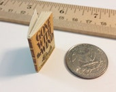 Miniature Vintage Book / Gone With the Wind by Margaret Mitchell / Tiny Book with real blank pages / 1:6 scale / playscale for Barbie