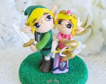 Custom Cake Topper - Link & Zelda