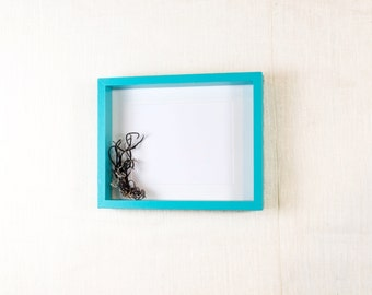 16X20 Deep Picture  Frame - Aqua Blue, Turquoise - Deep Frame, Open Box Frame
